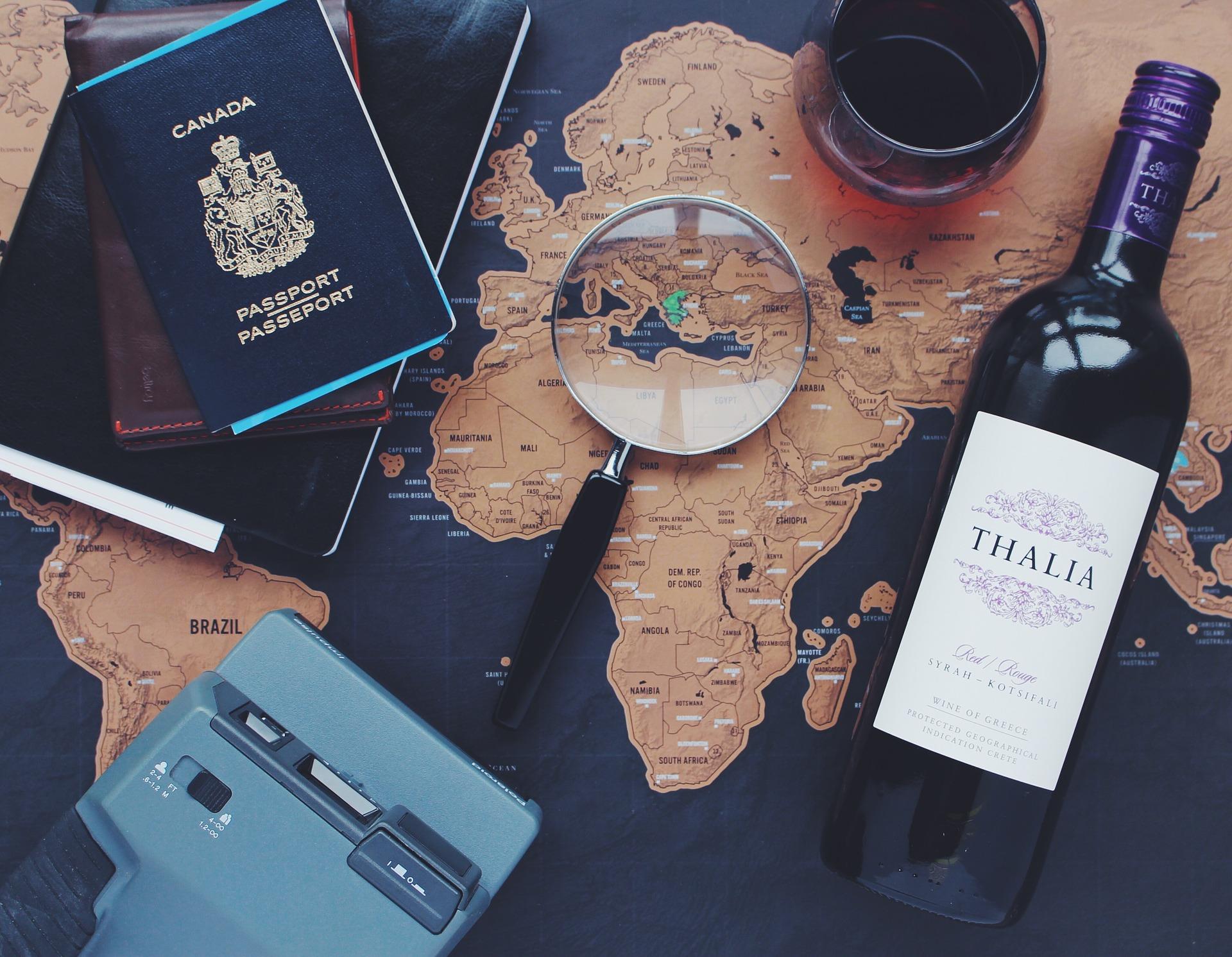 Elementi che organizzano un viaggio