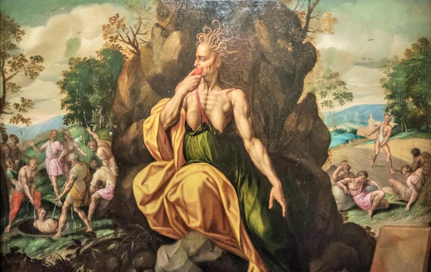 invidia rappresentata da Jacob de Backer